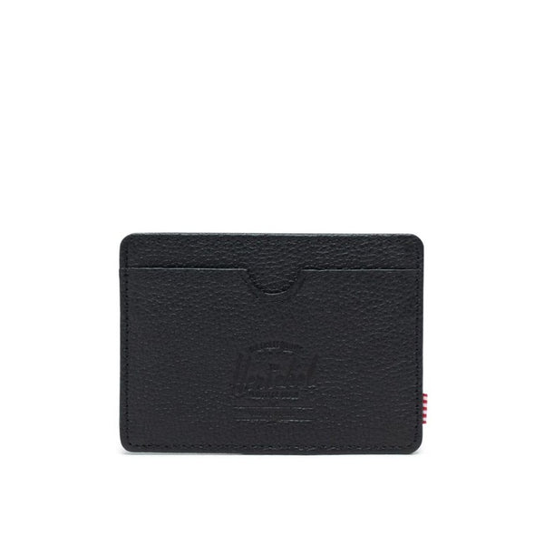 Herschel Charlie + Leather Wallet Pebble Black