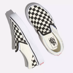Classic Slip-On Vans Kids Checkerboard White-Black