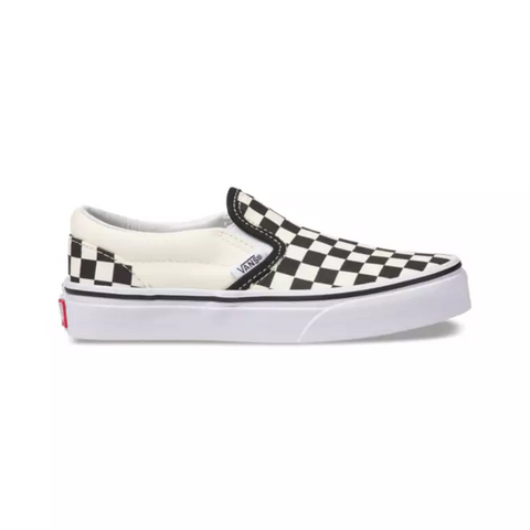 Vans Classic Slip-On Kids Checkerboard White Black
