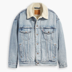 Levi's Dad Sherpa Trucker Jacket Women Warm Daddy