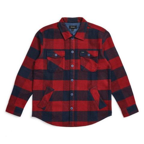 Brixton Durham LS Flannel Men Navy/Red