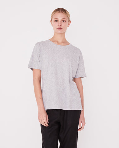 Essential Cotton Crew Tee Assembly Label Wm Grey Marle