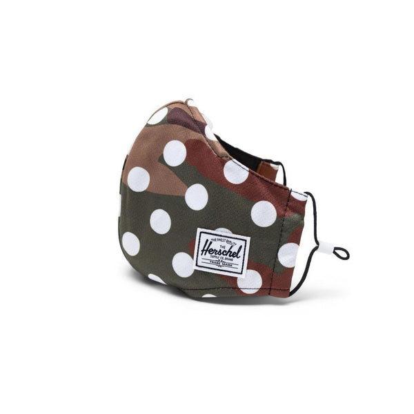 Herschel Face Mask 3 Layer Classic Fit Camo Woodland Polka Dot