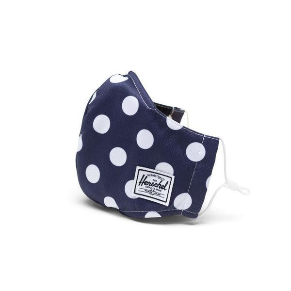 Face Mask 3 Layer Classic Fit Herschel  Peacoat Polka Dot