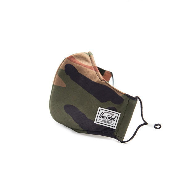Herschel Face Mask 3 Layer Classic Fit Woodland Camo