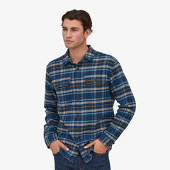 Patagonia Fjord Flannel LS Shirt Men Independence: New Navy