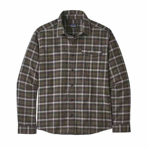 Patagonia Fjord Flannel Lightweight Shirt L/S Men Instinct Forge Grey