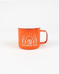 Going To The Sun Enamel Mug 16 oz Mug Camp Brand Goods Orange