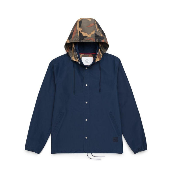 Herschel Hooded Jacket Men Peacoat Woodland Camo