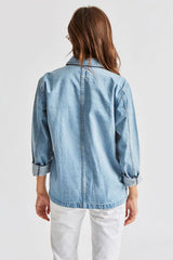 Brixton Karen Chore Coat Women Faded Indigo