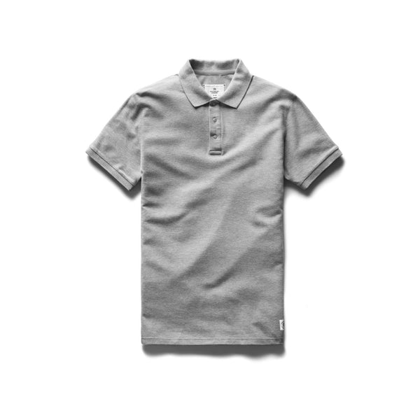 Reigning Champ Knit Polo Men H. Grey