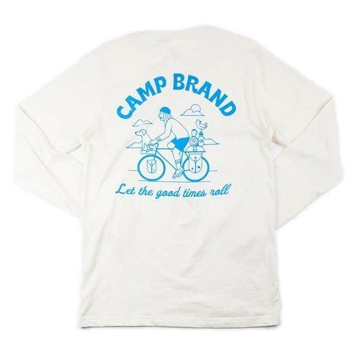 Camp Brand Goods Let the Good Times Roll Long Sleeve T-Shirt Women Natural