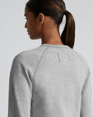 Reigning Champ Lightweight Pima Terry Crewneck Women Heather Grey