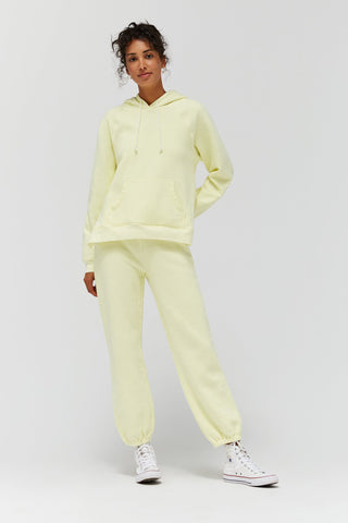 LACAUSA Lou Hoodie Women Buttermilk