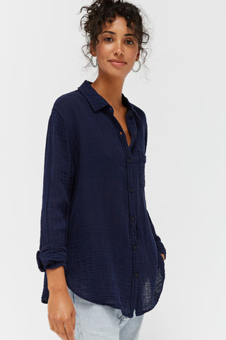 LACAUSA Luxe Nash Button Up Women Ink