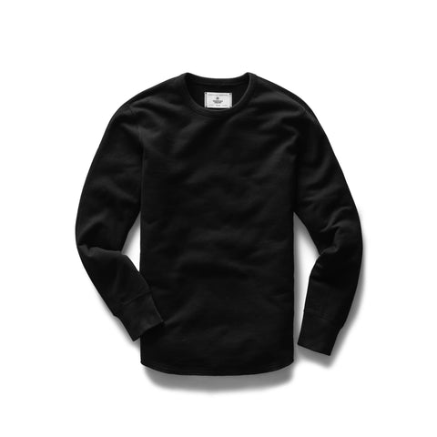 Midweight Terry Scalloped Crewneck Men Reigning Champ Black