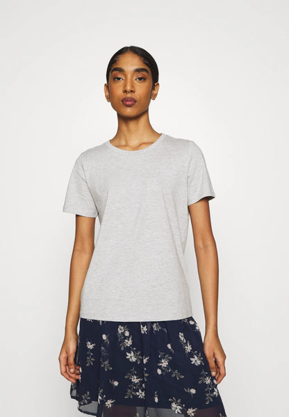 Minimum Kimma Tee Women Light Grey Melange