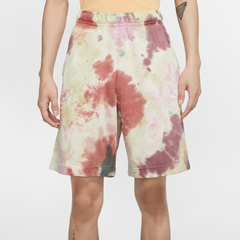 Nike NSW French Terry Tie-Dye Short Men Dark Beetroot Vintage Green White
