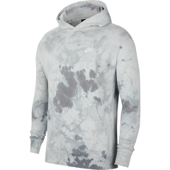 NSW French Terry Tie-Dye Hoodie Men Nike Light Solar Flare Heather White
