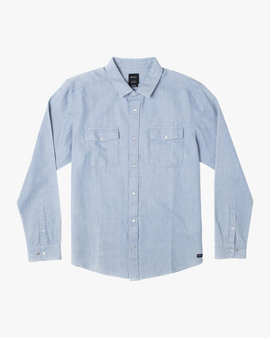 Nakama II Long Sleeve Shirt Men RVCA Denim