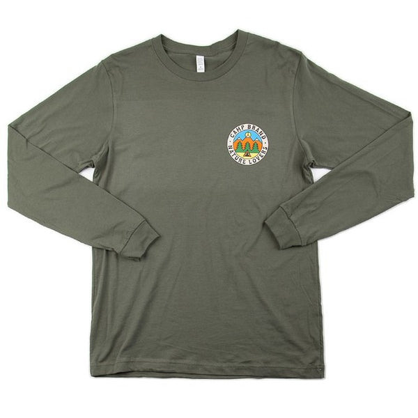 Camp Brand Goods Nature Lovers Long Sleeve T-Shirt Women Moss Green