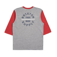 Oath V 3/4 Tee Men Brixton H.Grey/Lava Red