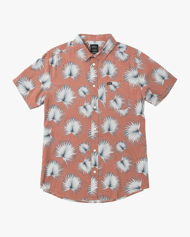 RVCA Palms Printed Short Sleeve Men Chai