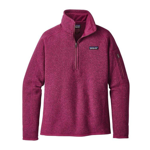 Better Sweater 1/4 Zip Women Patagonia Magenta