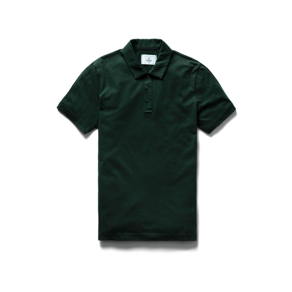 Pima Jersey Polo Men Reigning Champ Forest Green