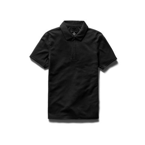 Reigning Champ Polo Knit Power Dry Men Black