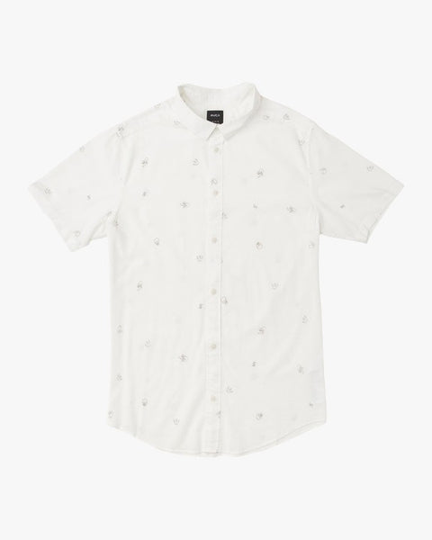 Pommier Buds Short Sleeve Shirt Men RVCA Antique White