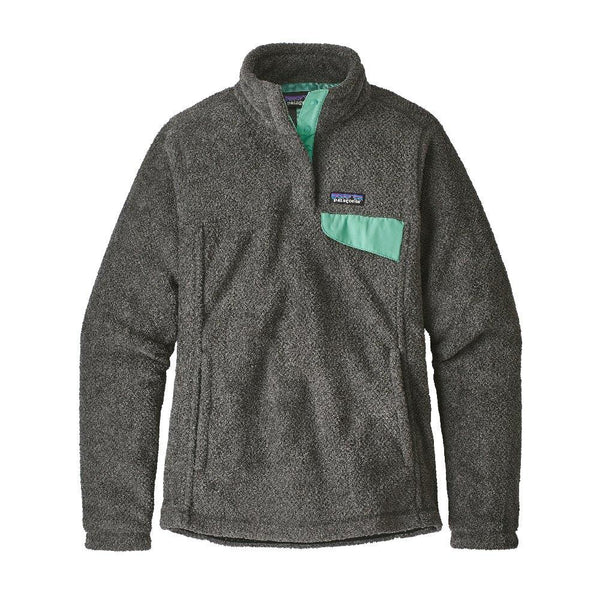Re-Tool Snap-T Pullover Women Patagonia Feather Grey Ink Black W/Vjosa Green X-Dye