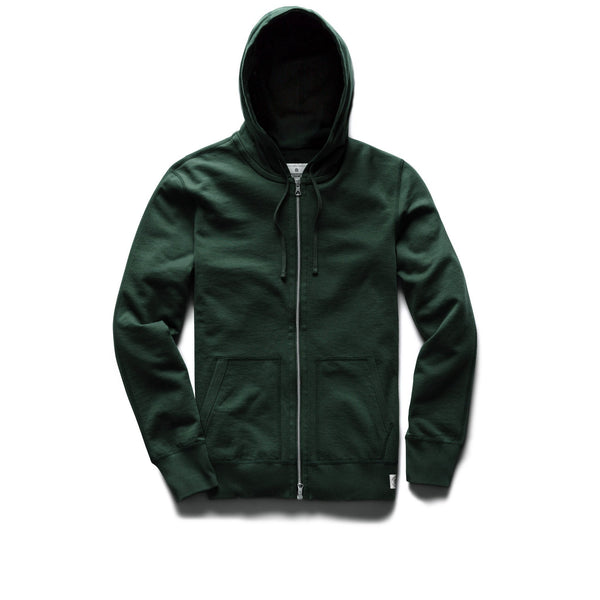 Midweight Terry Full Zip Hoodie Men Reigning Champ Forest Green