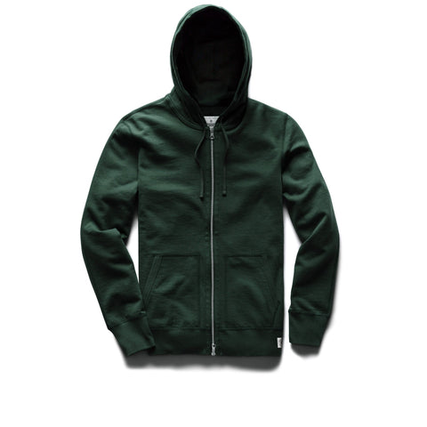 Reigning Champ Midweight Terry Full Zip Hoodie Men Forest Green