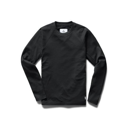 Reigning Champ Solotex Mesh Long Sleeve Men Heather Black