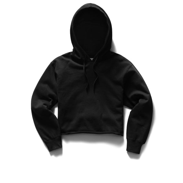 Reigning Champ Lightweight Pima Terry Crop Hoodie Women Black