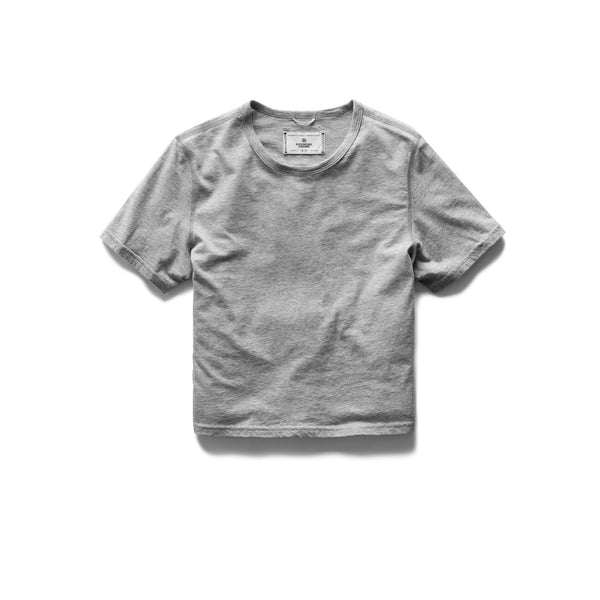 Pima Box Fit Tee Women Reigning Champ H. Grey