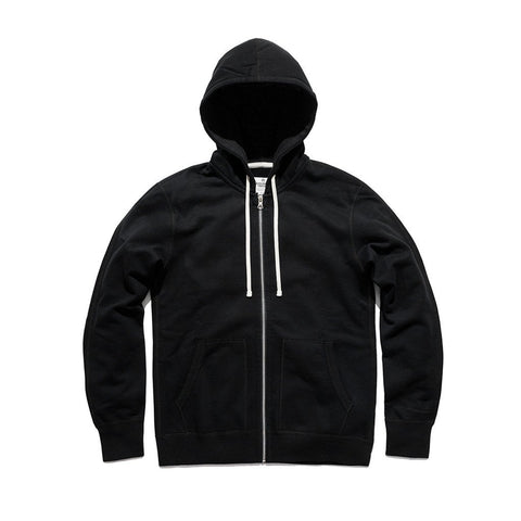Reigning Champ Midweight Full Zip Hoodie Men Black