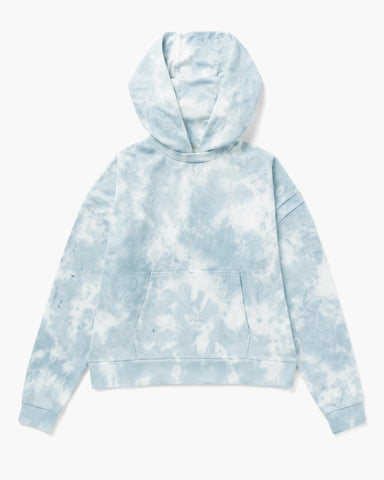 Richer Poorer Recycled Fleece Hoodie Women Black Blue Mirage Tie-Dye