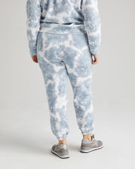 Richer Poorer Recycled Fleece Sweatpant Women Blue Mirage Tie-Dye