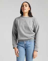 Richer Poorer Recycled Fleece Sweatshirt Women Heather Grey