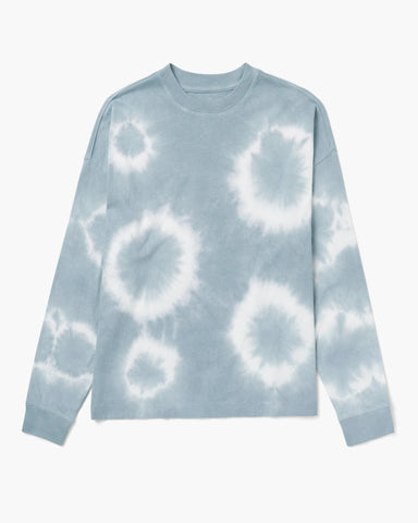 Richer Poorer Relaxed Long Sleeve Tee Women Blue Mirage Tie Dye