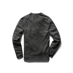 Ringspun Jersey Long Sleeve Henley Men Reigning Champ Marled Black