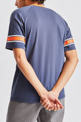 Brixton Stith II Tee Men Washed Navy/Tiger