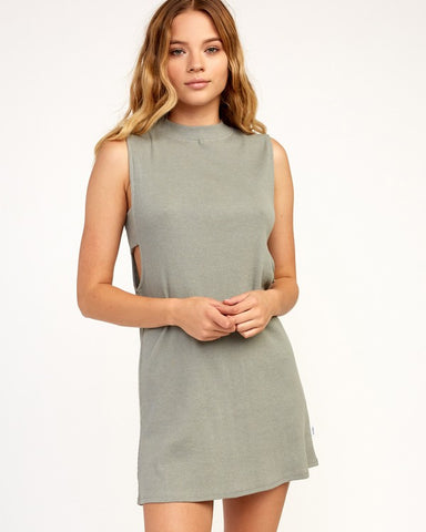 RVCA Talin Dress Women Grey Mist