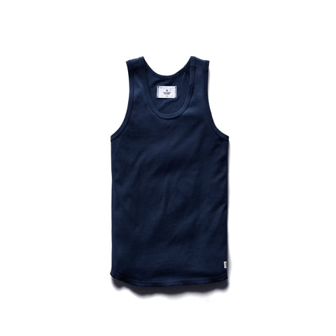 Reigning Champ Ringspun Tank Top Men Navy