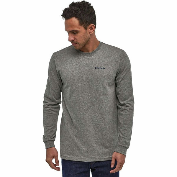 Text Logo Responsibili L/S Tee Patagonia Mn Gravel Heather