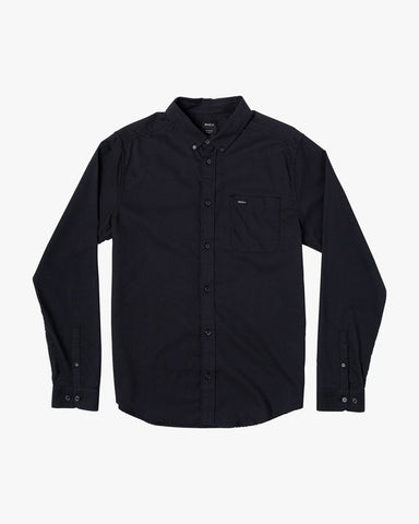 RVCA That'll Do Oxford Long Sleeve Men Black