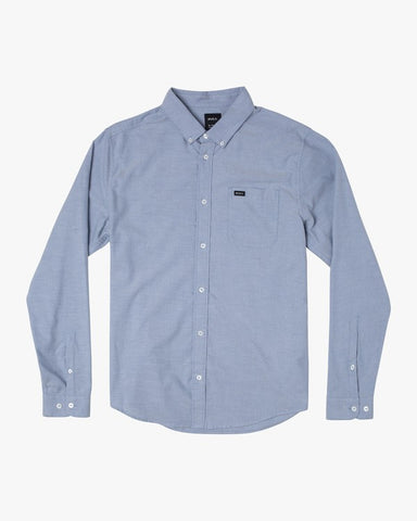 RVCA That'll Do Oxford Long Sleeve Men Distant Blue