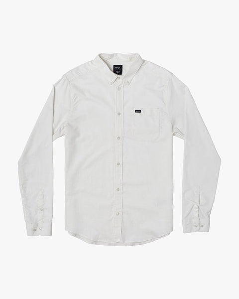 That'll Do Oxford Stretch Long Sleeve Men RVCA White